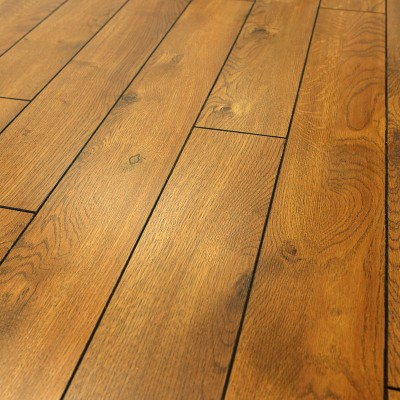 12mm Fired Edge Oak V Groove Laminate Flooring